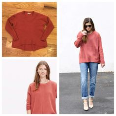 Madewell Moderne Sweater Peachy Madewell Moderne Sweater. Size small. In excellent condition, some minor pilling (easily removed) due to the nature of the sweater. Feel free to ask any questions in the comments below or make me an offer! Madewell Sweaters Crew & Scoop Necks
