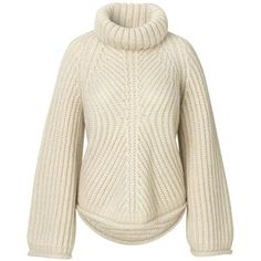Albert Sweater Mohair Knit (£240) ❤ liked on Polyvore featuring tops, sweaters, knit sweater, long sleeve sweater, long sleeve knit sweater, collared sweaters and knit top