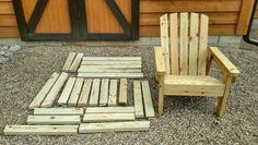 2x4 DIY Adirondack Chair - Perfect For Your Patio, Backyard Or Fire Pit! If you are looking for the perfect outdoor chair for your pool, campfire, fire pit, or cabin retreat, this easy-to-make 2x4 DIY Adirondack chair is for you! It is unbelievably easy to make and stands up tough
