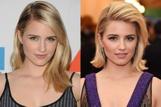 Dianna Agron Got a Major Haircut Just for the Met Gala, and We Have the Scoop Short Hair Blowout, Short Hair Cuts, Short Hair Styles, Celebrity Hair Colors, Celebrity Beauty, Dianna Agron Hair, Celebrity Haircuts, Pin Curls, Face Shapes