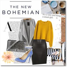 A fashion look from September 2015 featuring H&M sweaters, Dorothy Perkins skirts and Aquazzura pumps. Browse and shop related looks.