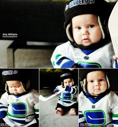 Toddler Canucks fans,   too cute to pass up.