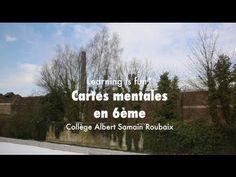 Reportage en classe de 6ème au Collège Samain à Roubaix sur l'utilisation des cartes heuristiques en cours d'anglais.