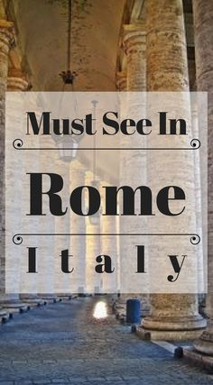 Things you Must see in Rome Italy. Beautiful, historic and diverse Rome, there are few other cities in the World that can match the abundance of sights to conquer on a vacation. Click to read Things To Do in Rome http://www.divergenttravelers.com/3-days-in-rome-things-to-do/