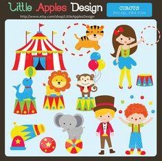 Circus ClipArt / Circus Clip Art / Carnival Clip Art by DreamyDuck