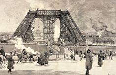 Resultado de imagen para eiffel tower construction workers