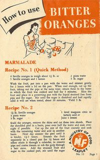 """""""How to use bitter oranges"""" - WW2 UK Ministry of Food leaflet No.13, 1945"""