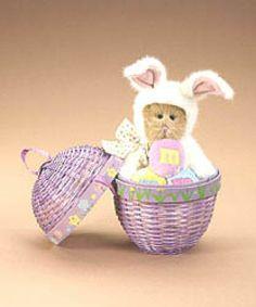 "Boyds Bears ""Hopplebeary"" -M & M®  8"" Bear w/ Egg Basket- #919031-NWT-2007"
