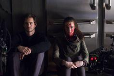 Hannibal S3 BTS: Hugh Dancy & Kacey Rohl