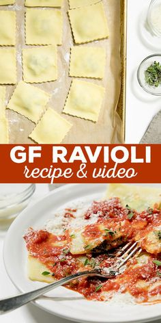 Homemade gluten free ravioli are way easier to make than you might think. No fancy equipment needed and they freeze perfectly! Homemade gluten free ravioli are way easier to make than you might think. No fancy equipment needed and they freeze perfectly! Wheat Free Recipes, Gluten Free Recipes For Dinner, Gf Recipes, Foods With Gluten, Gluten Free Desserts, Dairy Free Recipes, Gluten Free Dinners, Supper Recipes, Oven Recipes
