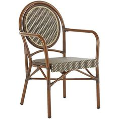 From Paris, with love. Our quintessentially French mocha Bistro Chair boasts style and substance with a dash of ooh la la thrown in. The rustproof aluminum frame and hand-woven synthetic rattan help keep this outdoor seat looking chic no matter the weather, plus it's stackable for easy storage and comes in a range of pretty colors.