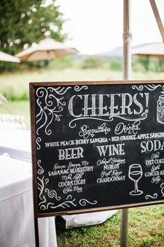 Great #wedding cocktail signage | Photography: Fabrice Tranzer - www.fabricetranzer.com  Read More: http://www.stylemepretty.com/2014/05/09/diy-hudson-valley-farm-wedding/