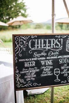 Great #wedding cocktail signage   Photography: Fabrice Tranzer - www.fabricetranzer.com  Read More: http://www.stylemepretty.com/2014/05/09/diy-hudson-valley-farm-wedding/
