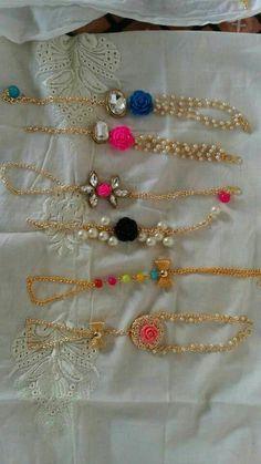 Thread Jewellery, Fabric Jewelry, Handmade Rakhi Designs, Vehicle Accessories, Beaded Bracelets Tutorial, Bohemian House, India Jewelry, Silk Thread, Embroidered Blouse