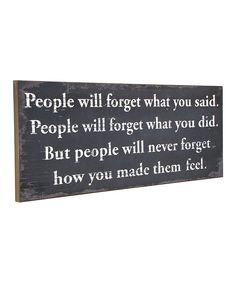 Look at this 'People Will Never Forget' Wall Sign on #zulily today!