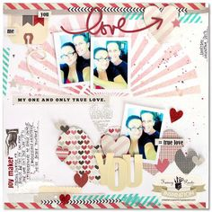 Layout by Kim Watson using the Love Note Collection by Fancypantsdesigns.com
