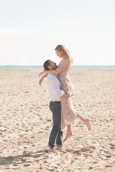 beach engagement photos.