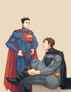 Superman and batman costum change   From tumblr