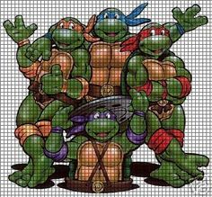 ninja turtle cross stitch charts | Teenage Mutant Ninja Turtles Crochet Pattern