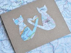 Items similar to Personalized Card Cat Valentine Map Love Cats Distance BFF on Etsy Personalised Valentines Cards, Personalised Photo Cards, Cat Valentine, Bff, Long Distance Relationship Gifts, Heart Map, Framed Maps, Cat Cards, Greeting Cards