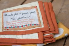Every handmade project deserves a label to let the recipient know just who made it, and to carry...