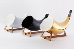 Amplificatore passivo in ceramica. Design spettacolare e hi-tech ad impatto ambientale zero. I want it.