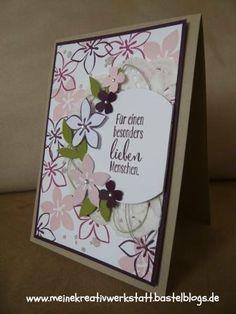 Geburtstagskarte Stampin up, Idee von Stempeldochmal