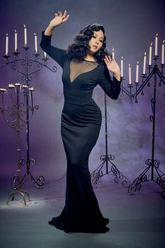 Elvira Gown in Black Ponte by Elvira   Pinup Girl Clothing