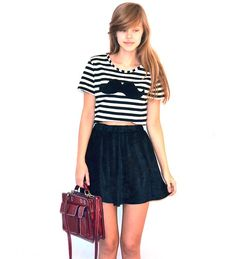 Monki Velvet Skirt, Diy T Shirt, Vintage Briefcase