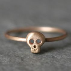 Baby Skull Ring in 14k Gold by MichelleChangJewelry on Etsy, $324.00