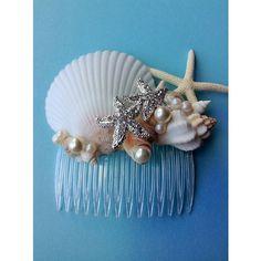 Wedding Dress for Love Seashell & Starfish Hair Comb Destination by AShoreThingCreations Seashell Art, Seashell Crafts, Beach Crafts, Diy And Crafts, Seashell Bouquet, Mermaid Crafts, Mermaid Diy, Mermaid Crowns Diy, Seashell Projects