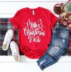 Fun Holiday Cheer T-Shirts Cute Christmas Shirts, Christmas Tops, Xmas Shirts, Vinyl Shirts, Christmas Pajamas, Cute Shirts, Christmas Sweaters, Christmas Clothing, Christmas Ideas