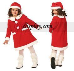 Children Christmas Dress Cosplay Costume