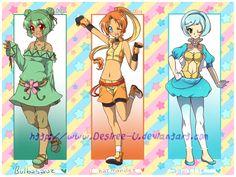 PokeGijinka Adopts-Kanto trio! +Pokemon gadgets! by Desiree-U
