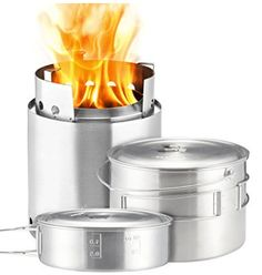 Solo Stove Campfire 2 Pot Set Combo 4 Person Wood Burning Camping Stove Outdoor Kitchen Kit for Backpacking Camping Survival Burns Twigs NO Batteries or Liquid Fuel Gas Canister Required * Be sure to check out this awesome product. Auto Camping, Camping Survival, Survival Gear, Camping Gear, Backpack Camping, Beach Camping, Survival Skills, Portable Wood Stove, Best Wood Burning Stove