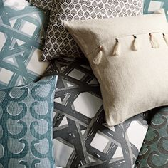 Havana Pillow Cover – Pewter | Serena & Lily