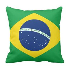#Brazil Flag Throw Pillow - #country gifts style diy gift ideas