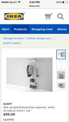 Nice and easy and even has a shoe rack