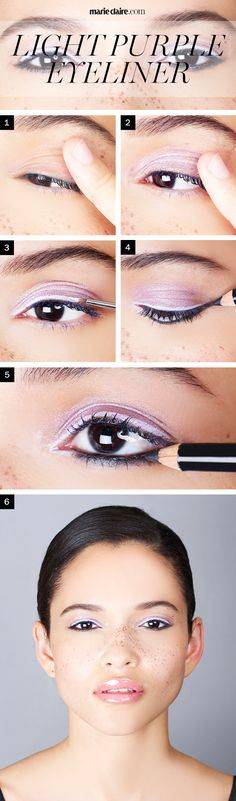 Makeup How-To: Wear Purple Eyeliner for Brown Eyes | MarieClaire.com