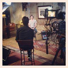 Shooting interview with Powderfinger lead guitarist Darren Middleton at Bakehouse Studios in Melbourne #powderfinger #music #band #guitarist #recordingstudio #studio #interview #behindthescenes #bts #videoshoot #shoot #filming #melbourne #5d #5d3 #5dmk3 #canon