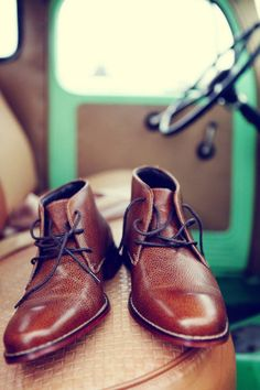 Another creative groom shoes shot.
