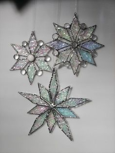 Gebrandschilderd glas Snowflake sneeuwvlok ornament