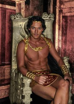 Luke Evans. I have NO idea what this is from but....Whooooo!