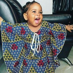 kids in print See Her Unique Ankara Style - Reny styles Ankara Styles For Kids, Unique Ankara Styles, African Dresses For Kids, African Babies, African Children, African Print Dresses, African Fashion Dresses, African Outfits, Ankara Fashion