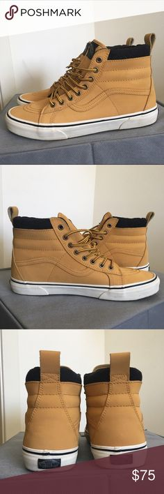 Vans Sk8-Hi MTE Skate Shoes Only worn a couple times these are in perfect condition. Color Honey/Leather Size 9.5 Vans Shoes Sneakers