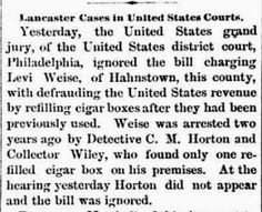 Genealogical Gems: On This Day: Lancaster man faces US grand jury