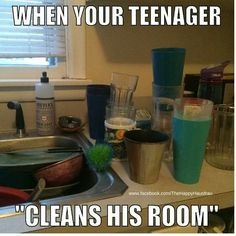 When your teenager cleans his room