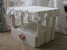 Hey, I found this really awesome Etsy listing at https://www.etsy.com/listing/186398158/shabby-chic-pet-bed-cat-bed-small-dog