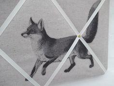 Handmade Notice/Pin/Memo Board in Zakka Fabric by MakeHayDesign, £22.00