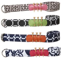 We love these adjustable golf belts. Available in 6 patterns. | #golf4her #holiday